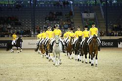 Reiten, Pferdesport, Reitponyquadrille, Schaubild<br /> Aachen - Europameisterschaften 2015<br /> Zuchttag<br /> © www.sportfotos-lafrentz.de/Stefan Lafrentz