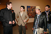 HUGO DALTON, CONRAD SHAWCROSS AND NICKY HASLAM, New work by Cecily Brown. Gagosian. Brittania St. London. 31 March 2006. ONE TIME USE ONLY - DO NOT ARCHIVE  © Copyright Photograph by Dafydd Jones 66 Stockwell Park Rd. London SW9 0DA Tel 020 7733 0108 www.dafjones.com