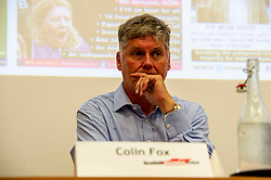 Pictured: Colin Fox<br /><br />Delegates welcomed panalists Eva, Schornveld, Extinction Rebellion; Colin Fox and Róisín McLaran, Scottish Socialist Party and Asbjørn Wahl a climate activist from Norway to assess how tackling climate change can be done in ways which benefit working-class people and their communities.<br /><br />Eva Schonveld Extintion Rebellion<br /><br />Colin Fox is the national co-spokesperson of the Scottish Socialist Party and a former Member of the Scottish Parliament for the Lothians.<br /><br />Róisín McLaren is the national co-spokesperson of the Scottish Socialist Party. At 24, she is the youngest leader of any UK political party in history.<br /><br />Asbjørn Wahl is a Norwegian researcher and author. He is currently the director of the Campaign for the Welfare State, an adviser for the Norwegian Union of Municipal and General Employees, and the Vice President of the Road Transport Workers' Section of the International Transport Workers' Federation.<br /><br /><br />Ger Harley | EEm 29 June 2019