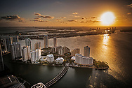 Brickell Key at sunrise.
