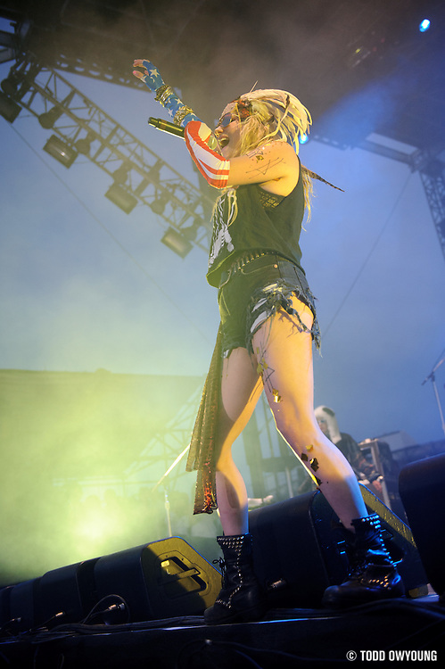 Photos of pop singer Kesha performing at The Bamboozle on May 1 in East Rutherford, New Jersey