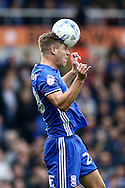 Michael Morrison of Birmingham City heads clear  during the Sky Bet Championship match at St Andrews, Birmingham<br /> Picture by Andy Kearns/Focus Images Ltd 0781 864 4264<br /> 30/10/2016