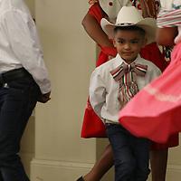 Kevin Mendoza, 4, of New Albany dances Saturday at the Hispanic Heritage celebration held at St. James Catholic Church
