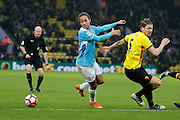Watford defender Sebastian Prodl (5) and Burton Albion midfielder Marcus Harness (22)  during the The FA Cup 3rd round match between Watford and Burton Albion at Vicarage Road, Watford, England on 7 January 2017. Photo by Richard Holmes.