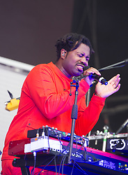 Sampha performs on stage on day 2 of All Points East festival in Victoria Park in London, UK. Picture date: Saturday 26 May 2018. Photo credit: Katja Ogrin/ EMPICS Entertainment.