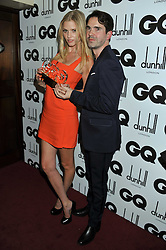 Woman of The Year LARA STONE and JIMMY CARR at the GQ Men of the Year 2011 Awards dinner held at The Royal Opera House, Covent Garden, London on 6th September 2011.
