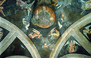 The Eternal Father'. From ceiling vault of the Chapter, Basilica of St Mary the Great, Milan, Italy.