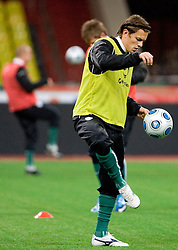Zlatko Dedic at practice of Slovenian team a day before FIFA World Cup 2010 Qualifying match between Russia and Slovenia, on November 13, 2009, in Stadium Luzhniki, Moscow, Russia.  (Photo by Vid Ponikvar / Sportida)