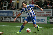 Brighton & Hove Albion centre forward Sam Baldock (9) steps over the ball during the EFL Sky Bet Championship match between Rotherham United and Brighton and Hove Albion at the AESSEAL New York Stadium, Rotherham, England on 7 March 2017. Photo by Mark P Doherty.
