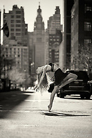 Dance As Art The New York City Photography Project Black and White Photography Streets of New York Battery Park Series with Kayla Shultz