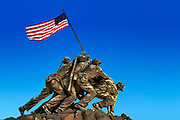 Marine Corps War Memorial, also Iwo Jima Memorial, Arlington Ridge Park, Arlington, Virginia, USA.