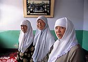 Women muslim teachers at girls school in Dongtui Village near Wuzhong City. Ningxia Province, China.