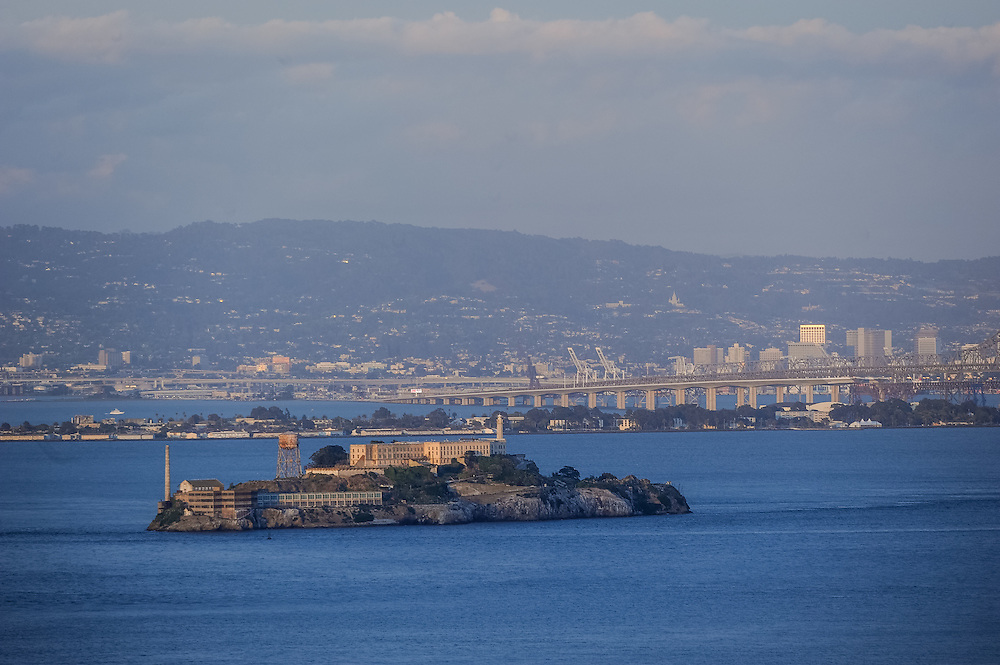 Alcatraz Island is located in the San Francisco Bay, 1.5 miles offshore from San Francisco, California, United States