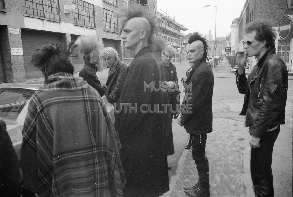 Bovver Boots Crew, Wharfdale Rd, Kings Cross, London, UK, 1980s.