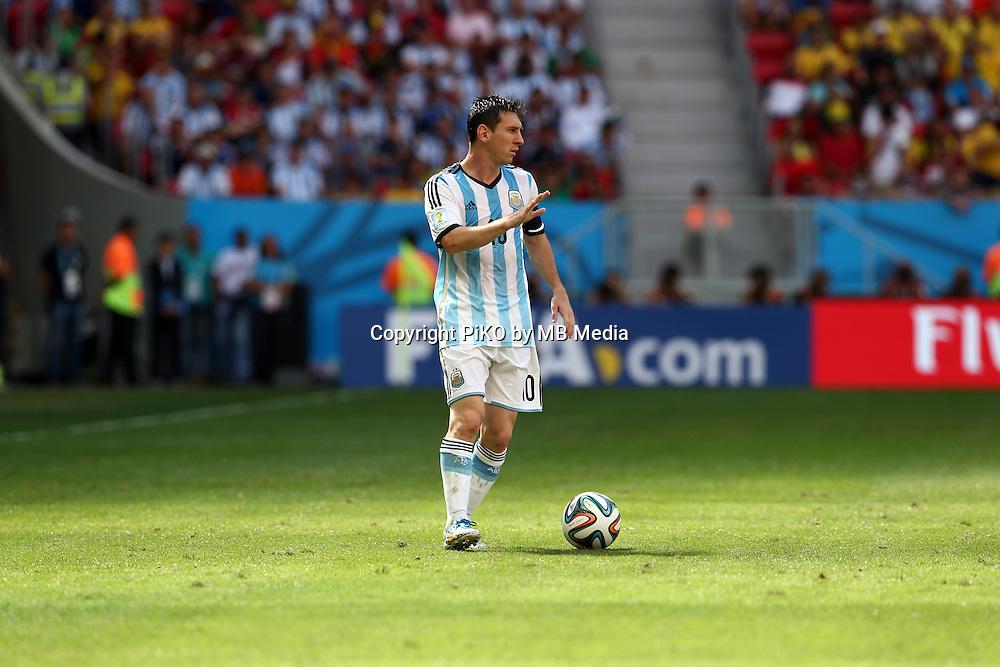 Fifa Soccer World Cup - Brazil 2014 - <br /> ARGENTINA (ARG) Vs. BELGIUM (BEL) - Quarter-finals - Estadio Nacional Brasilia -- Brazil (BRA) - 05 July 2014 <br /> Here Argentine player Lionel Messi<br /> &copy; PikoPress
