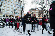 STOCKHOLM, SVERIGE - 2018-01-21: Demonstranter under Womens March Stockholm den 21 januari 2018 i Stockholm, Sverige. <br /> Foto: Nils Petter Nilsson/Ombrello<br /> ***BETALBILD***
