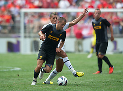 BALTIMORE, MD - Saturday, July 28, 2012: Liverpool's Joe Cole in action against Tottenham Hotspur during a pre-season friendly match at the M&T Bank Stadium. (Pic by David Rawcliffe/Propaganda)