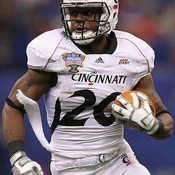 Jan 01, 2010; New Orleans, LA, USA;  Cincinnati Bearcats running back Jacob Ramsey (20) runs against the Florida Gators during the first half of the 2010 Sugar Bowl at the Louisiana Superdome.  Mandatory Credit: Derick E. Hingle-US PRESSWIRE.