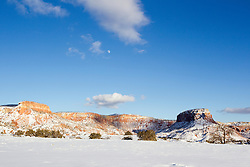 winter in Abiquiu, New Mexico
