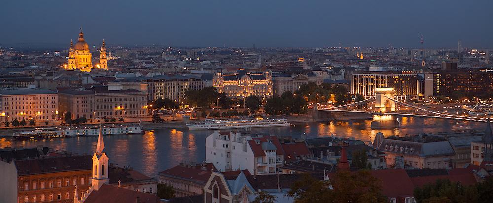 Budapest at night, hungary