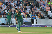 Samit Patel following through during the NatWest T20 Blast Quarter Final match between Notts Outlaws and Somerset County Cricket Club at Trent Bridge, West Bridgford, United Kingdom on 24 August 2017. Photo by Simon Trafford.