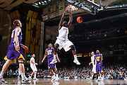 NASHVILLE, TN - FEBRUARY 8: Festus Ezeli #3 of the Vanderbilt Commodores dunks during first half action against the LSU Tigers at Memorial Gymnasium on February 8, 2012 in Nashville, Tennessee. (Photo by Joe Robbins) *** Local Caption *** Festus Ezeli