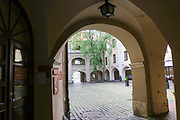 A courtyard in Vilnius, Lithuania
