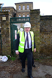 The London Mayor Boris Johnson kick starts building at London's first community land trust at St Clements Hospital. London, United Kingdom. Thursday, 20th March 2014. Picture by Nils Jorgensen / i-Images