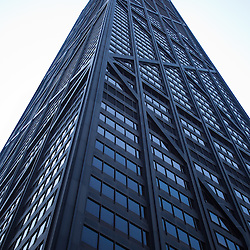 John Hancock Building in Chicago. The John Hancock Building is one of the tallest skyscrapers in Chicago and also the United States. Photo is vertical and high resolution.