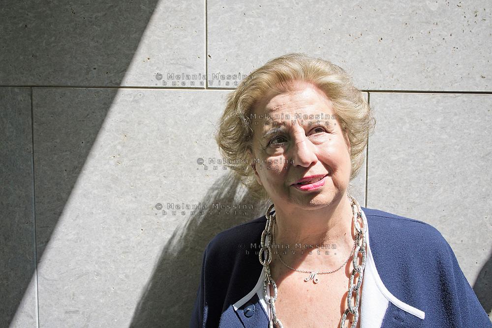 Maria Falcone nella sede della fondazione intestata a Giovanni Falcone a Palermo.<br /> Palermo: Maria Falcone sister of Giovanni in the Giovanni Falcone foundation