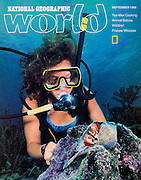 National Geographic World Magazine Sea Camp story cover shot by photographer Courtney Platt