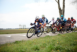 Emilie Moberg (NOR) leads the chase group at Healthy Ageing Tour 2019 - Stage 3, a 124 km road race starting and finishing in Musselkanaal, Netherlands on April 12, 2019. Photo by Sean Robinson/velofocus.com