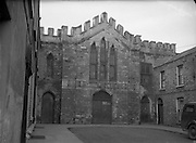 Protestant Churches around Dublin for Belfast Telegraph..Church at Langrishe Pl, Dublin 1, now used as Printing Office ..07/01/1956