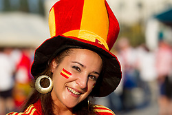 Fans of Spain prior to the UEFA EURO 2012 group C match between  Croatia and Spain at PGE Arena Gdansk on June 18, 2012 in Gdansk / Danzig, Poland. (Photo by Vid Ponikvar / Sportida.com)