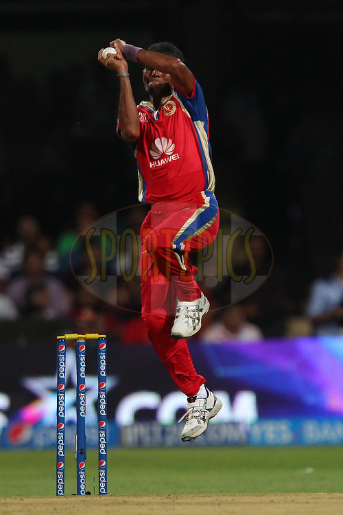 Ashoke Dinda of the Royal Challengers Bangalore during match 24 of the Pepsi Indian Premier League Season 2014 between the Royal Challengers Bangalore and the Sunrisers Hyderabad held at the M. Chinnaswamy Stadium, Bangalore, India on the 4th May  2014<br /> <br /> Photo by Ron Gaunt / IPL / SPORTZPICS<br /> <br /> <br /> <br /> Image use subject to terms and conditions which can be found here:  http://sportzpics.photoshelter.com/gallery/Pepsi-IPL-Image-terms-and-conditions/G00004VW1IVJ.gB0/C0000TScjhBM6ikg