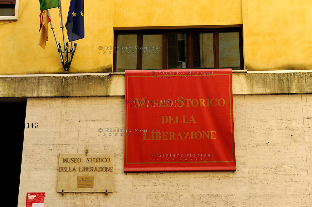 Roma 24 Aprile 2009.Museo Storico della Liberazione Via Tasso 155,  era il Comando SS e Gestapo, della polizia Nazista  durante l'occupazione da parte delle  Germania durante la Seconda Guerra Mondiale.<br />