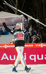 06.01.2015, Paul Ausserleitner Schanze, Bischofshofen, AUT, FIS Ski Sprung Weltcup, 63. Vierschanzentournee, Siegerehrung Gesamtwertung, im Bild Peter Prevc (SLO, 3. Platz) // 3rd place Peter Prevc of Slovenia celebrates on podium during Overall Award ceremony of 63rd Four Hills Tournament of FIS Ski Jumping World Cup at the Paul Ausserleitner Schanze, Bischofshofen, Austria on 2015/01/06. EXPA Pictures © 2015, PhotoCredit: EXPA/ Johann Groder