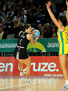 Temepara George (NZ)<br /> Netball - 2009 Holden International Test Series<br /> Australian Diamonds v New Zealand Silver Ferns<br /> Wednesday 9 September 2009<br /> Hisense Arena, Melbourne AUS<br /> © Sport the library / Jeff Crow