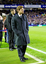 LIVERPOOL, ENGLAND - Wednesday, October 26, 2011: Chelsea's manager Andre Villas-Boas before the Football League Cup 4th Round match against Everton at Goodison Park. (Pic by Vegard Grott/Propaganda)