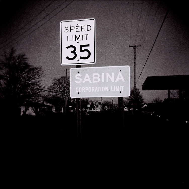Sabina, Ohio as seen through the plastic lens of a Holga.