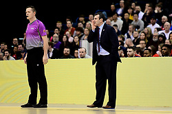Bristol Flyers head coach Andreas Kapoulas - Photo mandatory by-line: Ryan Hiscott/JMP - 26/01/2020 - BASKETBALL - Arena Birmingham - Birmingham, England - Bristol Flyers v Worcester Wolves - British Basketball League Cup Final