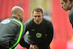 STUART BURT ASSISTANT REFEREE Manchester United v Everton, The Emirates FA Cup Semi Final Wembley Stadium, Saturday 23rd April 2016, <br /> (Score 2-1), Photo:Mike Capps