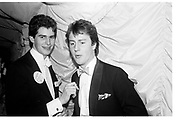 tim Murphy and David Cameron. Valentine Ball. Oxford Union. 14 February 1987. . SUPPLIED FOR ONE-TIME USE ONLY> DO NOT ARCHIVE. © Copyright Photograph by Dafydd Jones 66 Stockwell Park Rd. London SW9 0DA Tel 020 7733 0108 www.dafjones.com