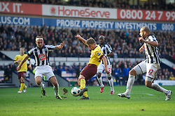 WEST BROMWICH, ENGLAND - Saturday, March 19, 2011: Arsenal's Andrei Arshavin scores the first goal against West Bromwich Albion to make it 2-1 during the Premiership match at the Hawthorns. (Photo by David Rawcliffe/Propaganda)