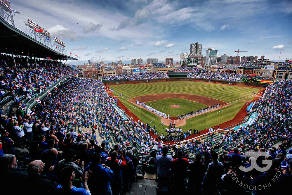 Chicago Cubs home opener against Milwaukee, Monday, April 8, 2013