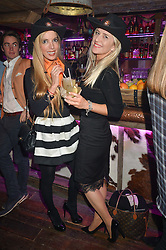 Left to right, CORALIE ROBINSON and TARA VIESNIK at a party to celebrate the opening of Beaver Lodge, a new bar & club from the Inception Group at 266 Fulham Road, London SW10 on 4th December 2014.