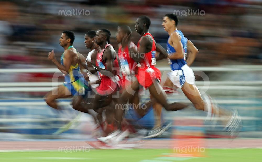 Olympia 2004 Athen Leichtathletik 800 m Maenner Halbfinale; Feature; Afrikanische Uebermacht; Andrea Longo (ITA,re)
