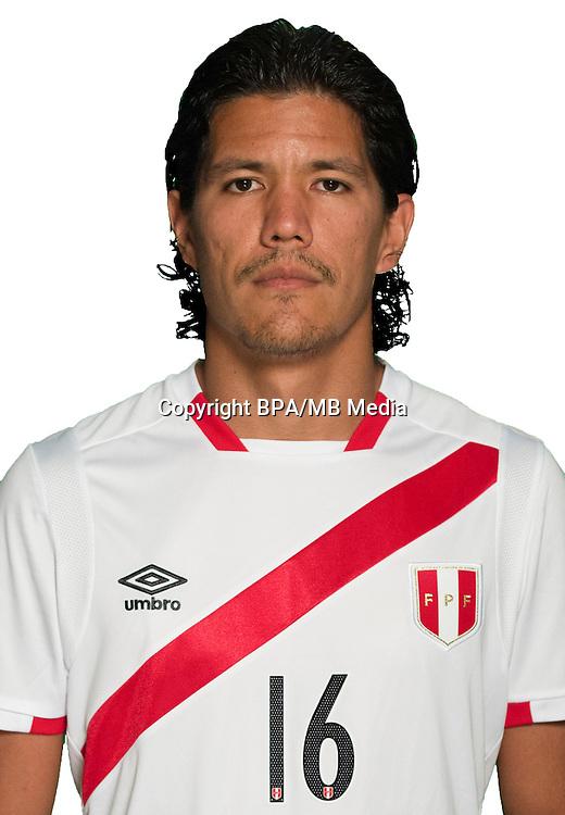 Football Conmebol_Concacaf - <br />Copa America Centenario Usa 2016 - <br />Peru National Team - Group B - <br />Oscar Christopher V&iacute;lchez