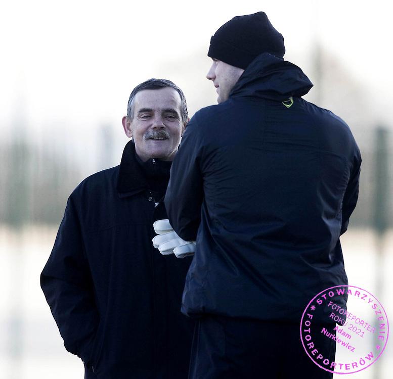 09/12/08 .CELTIC TRAINING .LENNOXTOWN .Wladyslaw Boruc with his son Artur Boruc