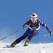 Sun-Joo Kim, Korea, in action during the Women's Giant Slalom competition at Coronet Peak, New Zealand during the Winter Games. Queenstown, New Zealand, 23rd August 2011. Photo Tim Clayton